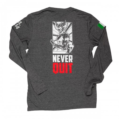 NEVER QUIT GREY ML