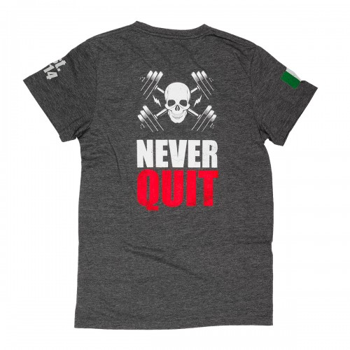 NEVER QUIT GREY M