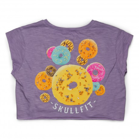CROPPED T-SHIRT W VIOLET