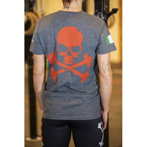 FIT SKULL DARK GREY-RED W