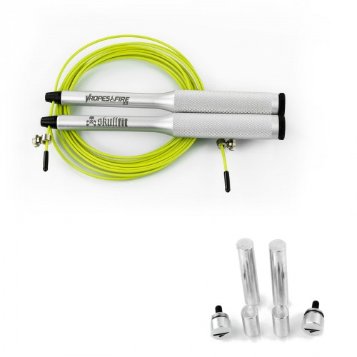 JUMP ROPE GRAY + WEIGHTS